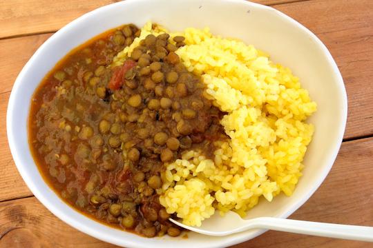 レンズ豆のカレー