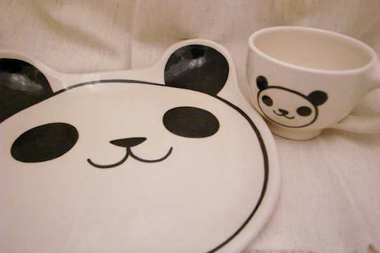 パンダの皿とマグカップ