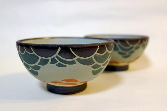 廣田芳樹さん作の茶碗