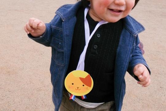 入園式 1歳3ヶ月 この頃には歩けるようになっていた