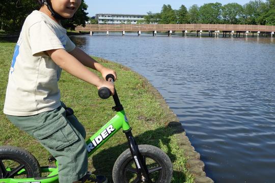 STRIDERのおかげで自転車もすんなり乗れるようになった
